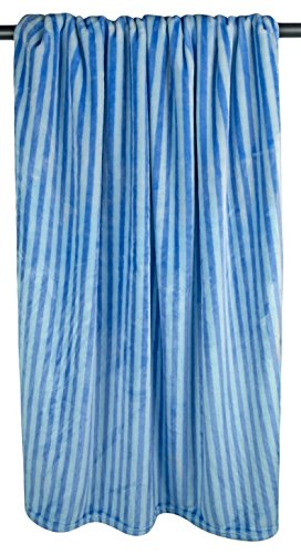 DII Bone Dry Microfiber Pet Blanket for Dogs and Cats, 36x48'', Warm, Soft and Plush for Couch, Car, Trunk, Cage, Kennel, Dog House-Blue Stripes by Bone Dry