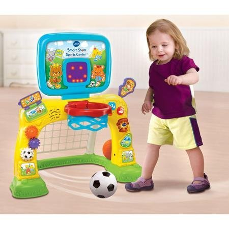Bright Colors and Cute Design Electronic Smart Shots Sports Center, 50+ Songs, Multicolor by VTech (Image #1)