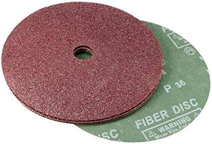 "- 7""X 7/8"" Aluminum Oxide Resin Fiber Discs, Center Hole 36 Sanding Discs für Grain Sanding, Pack von 5"