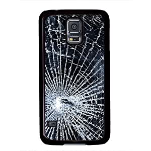 Samsung Galaxy S5 Case, iCustomonline Broken Screen Protective Back Cover Case for Samsung Galaxy S5 I9600 Black