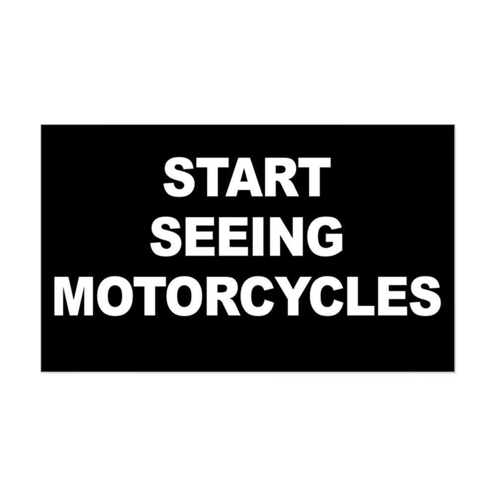 本物の CafePress – 01605794723C784 開始Seeing Motorcyclesステッカー B00Q62JGYM – 3x5 長方形バンパーステッカー車デカールステッカー Small - 3x5 ホワイト 01605794723C784 Small - 3x5 ホワイト B00Q62JGYM, キサイマチ:57be0a0b --- mvd.ee