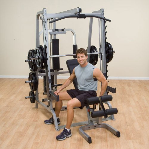 Body Solid Series 7 Smith Gym Package w/ 400 lb Weight Set GS348QP4, (400 Series Combo)