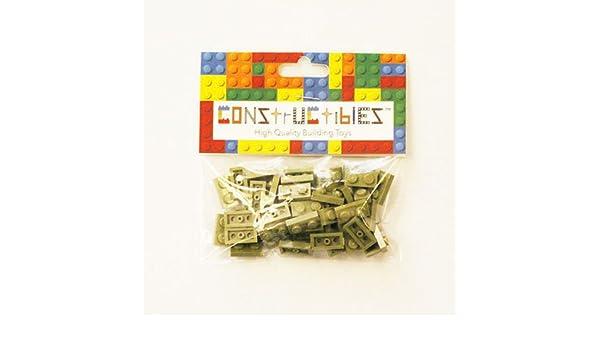 Constructibles® x50 Light Bluish Gray 1x2 Plates 3023 LEGO® Bulk Parts