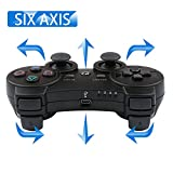 PS3 Controller Wireless SIXAXIS Double Shock Controller for Playstation 3 with Charge Cord(Black)