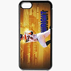 Personalized iPhone 5C Cell phone Case/Cover Skin 15001 david wright by xman20 d309l1o Black