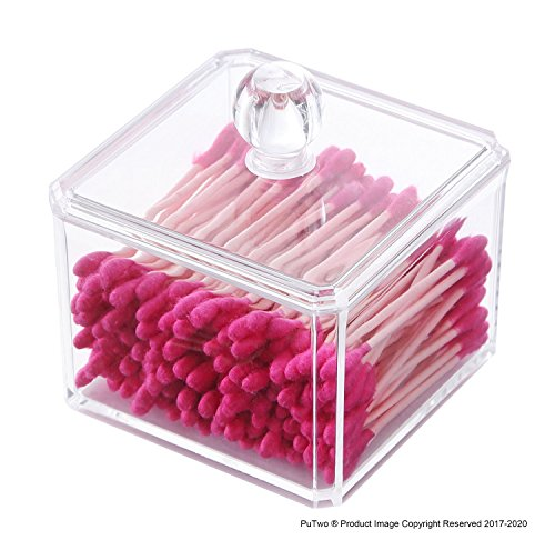 PuTwo Makeup Organizer Bathroom Storage Cotton Buds Dispenze