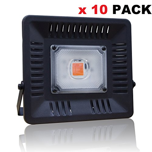 LED Grow Plants Light,100W COB Growing Heat Lamp IP67 Waterproof Full Spectrum for Hydroponic, Greenhouse, Succulents, Flower,Seedlings Indoor Outdoor by UNPOPULAR by DHL (10 Pack Wall Draw 50W)