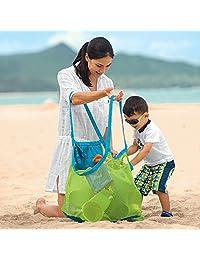 TFY Bolso Organizador de Mano de Malla para la Playa Grande Tamaño Familiar