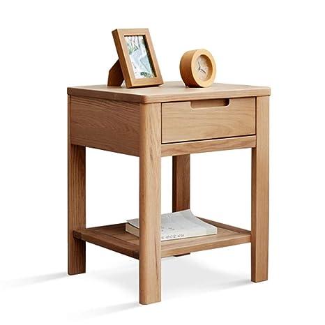 Amazon.com: Mesita de noche de madera maciza, armario de ...