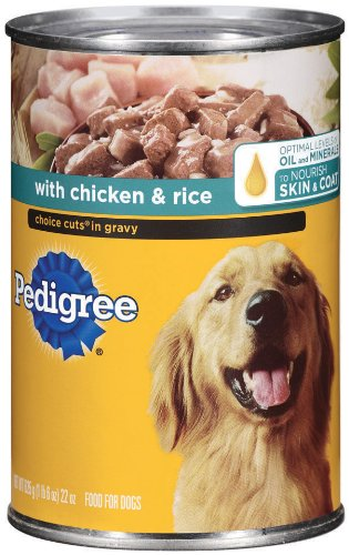 Pedigree Choice Cuts in Gravy with Chicken and Rice, 22-Ounce (Pack of 12), My Pet Supplies