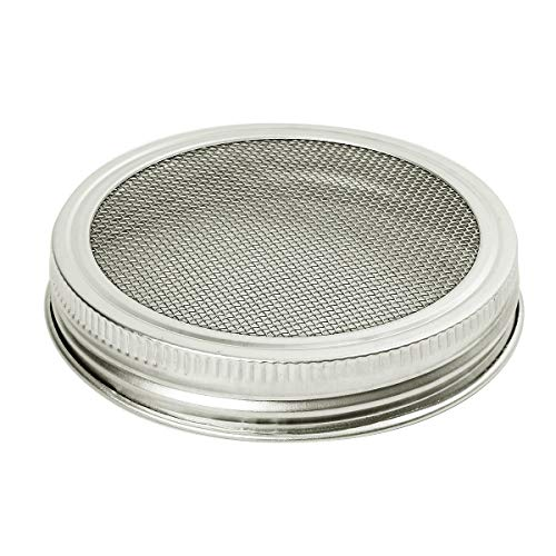 CUSFULL 6 Pack Sprouting Lids for Wide Mouth Mason Jars -Stainless Steel Strainer Lid for Canning Jars and Seed Sprouting Screen by CUSFULL (Image #2)