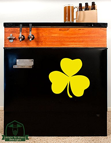 irish-lucky-shamrock12-kegerator-vinyl-decal-yellow