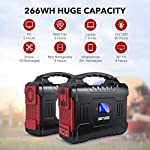 300W Portable Power Station (350W Peak), BUTURE 266Wh Solar Outdoor Generator, 72000mAh 60W PD Power Bank with Dual 110V…