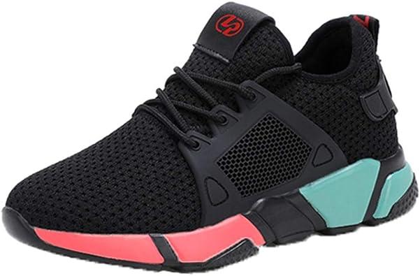 Calzado Deportivo para Mujer al Aire Libre para Correr Correr Trotar en Zapatillas de Deporte Transpirables con Cordones de Zapatos Confort a Prueba de Golpes en Tendencia Ligera Informal: Amazon.es: Zapatos y