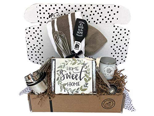 Hey it's your day gifts Unique House Warming Wedding New Home Gift Basket with Home Sign, Utensils, Candle and More ()