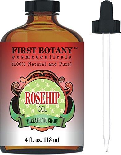 Rosehip Oil - 100% Pure Cold Pressed & Organic 4 fl. oz. - B