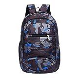 Sameno Teenage Girls Boys School Backpack Camouflage Printing Students Bags (Black)