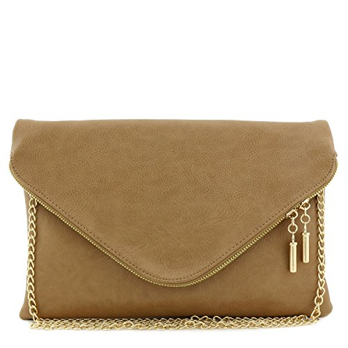 with Bag Envelope Strap Clutch Chain Large Stone qTBgtwq