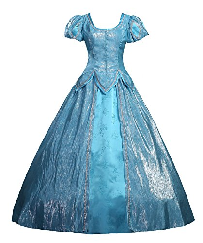 [Cosrea Little Mermaid Princess Ariel Cosplay Costume Dress (Small)] (Ariel Blue Dress Costumes)