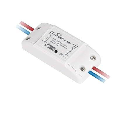Interruptor WiFi inteligente, control remoto inalámbrico para el hogar, enchufe de alimentación inteligente para