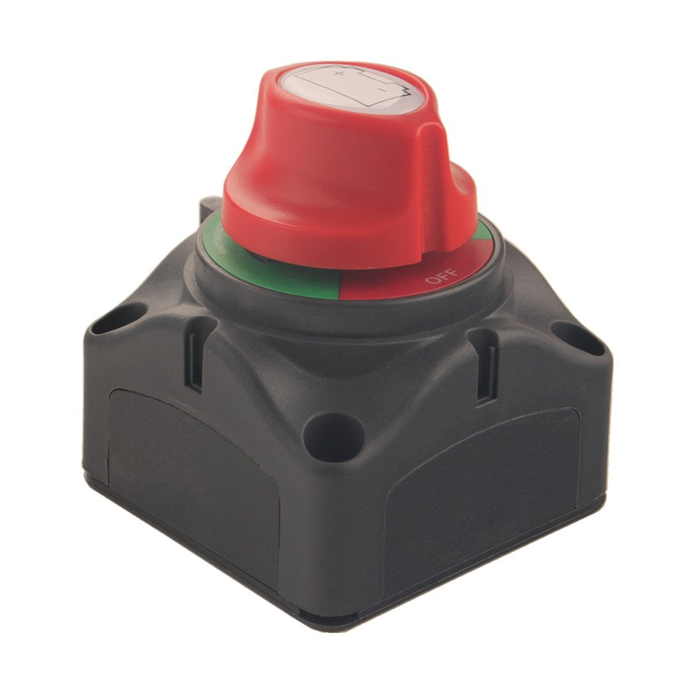 Dewhel Dual Battery Selector Switch 1-2-Both-Off Selector for Marine Boat Rv Vehicles
