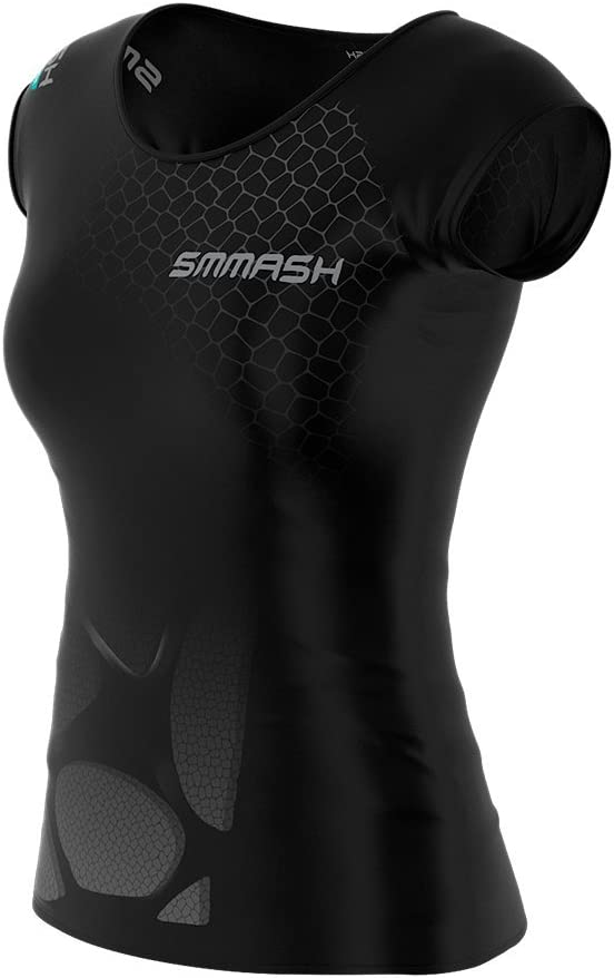 Yoga Kurzarm Sportshirt Sportoberteile SMMASH X-WEAR Atacama Damen Compression T-Shirt Atmungsaktivees Laufshirt Gym Fahrrad Fitness Sport Funktionsshirt f/ür Crossfit
