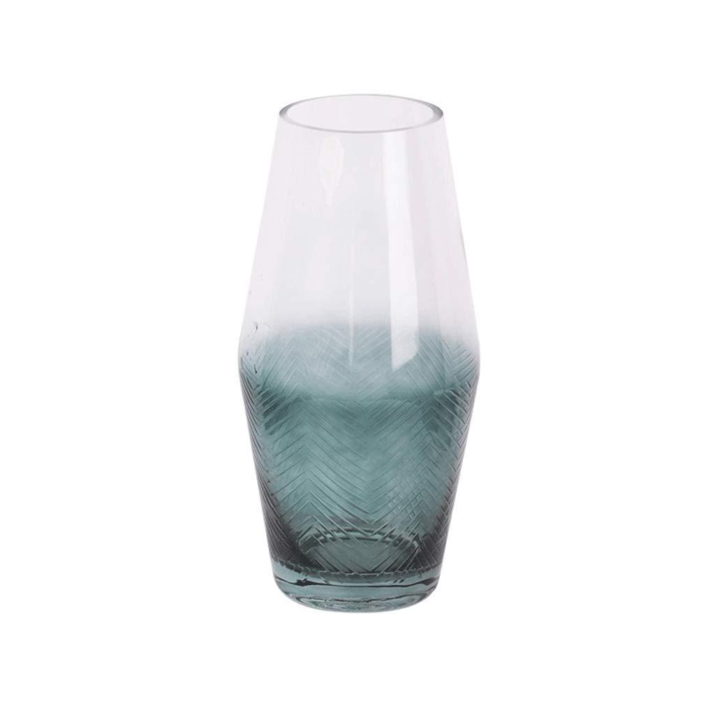 リビングルーム透明ガラス花瓶花水耕栽培クリエイティブフラワーデコレーション LCSHAN (Color : Ceramic-Clear, Size : 27.5cm*9cm*9cm) B07T3JRG52 Ceramic-Clear 27.5cm*9cm*9cm