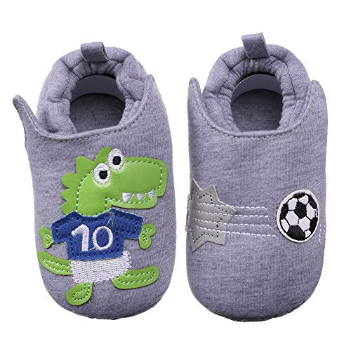 (CHOWISH Unisex Baby Boys Girls Newborn Infant Winter Soft Warm Anti-Slip Cotton First Walker Shoes (L/12-18 Months, Grey))