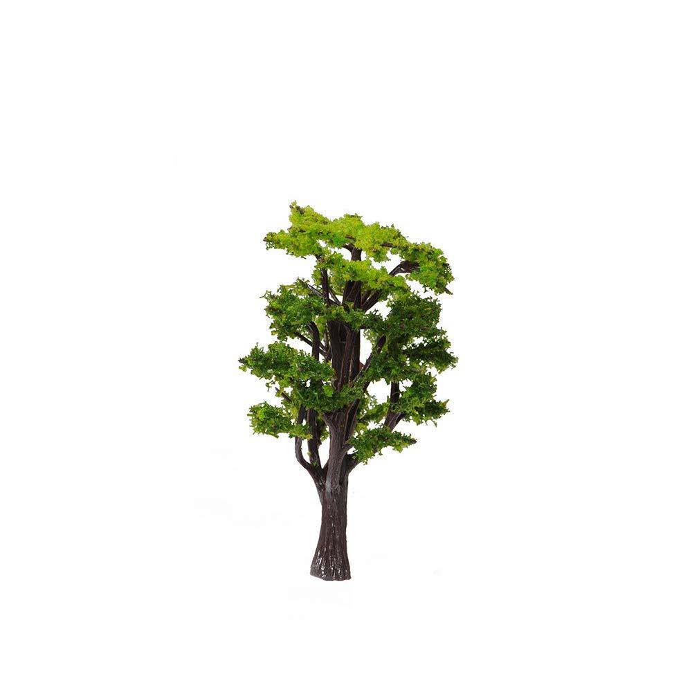 Hongma Miniature Arbre en Plastique Couleur Vert Sable Table Accessoire