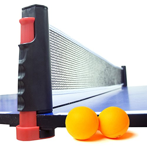 Buy Bargain Anywhere Table Tennis Net, Replacement Ping Pong Net and Post Set with 2 Tennis Balls, 6...