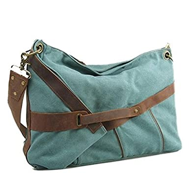 e455ddc572a0 Amazon.com  Tom Clovers New Hobo Large Women s Men s Classy Look Cool  Simple Style Casual Canvas Crossbody Messenger Handbag Tote Weekender  Fasion Bag Tote ...