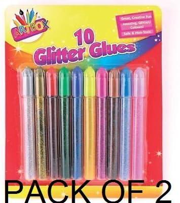 Range Wholesale Arte Caja Glitterglue - Colores Surtidos Pack de 20 Ideal para niños para la Escuela: Amazon.es