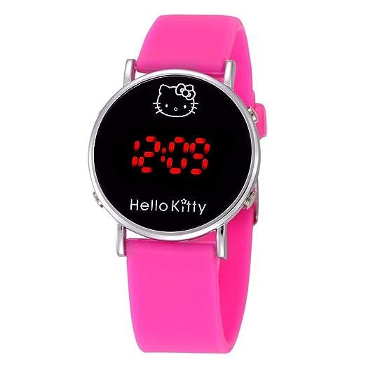 Reloj de Gato con Dibujos Animados de Hello Kitty, Reloj para bebé, Pantalla LED