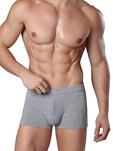Avidlove Men Underwear Cotton Trunks Short Boxer Briefs Multicolors Gray (FBA) XXL