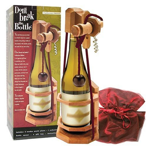 (Don't Break the Bottle Corkscrew Puzzle Gift for Adults)
