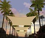 Amgo 10' x 13' Beige Rectangle Sun Shade Sail
