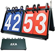 AKA Premium Sport Scoreboard/Portable-Tabletop-Flipper-Easy Flip Score Keeper
