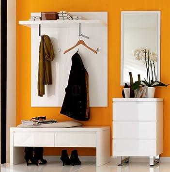 Garderoben Set 4 Pieces Floyd En Haute Brillance Peint En Blanc