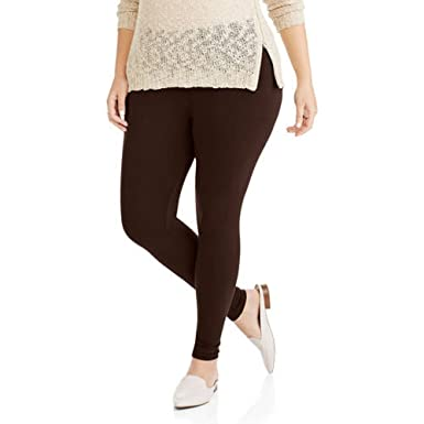 9443f8e3ed9f2 Faded Glory Women's Plus-Size Essential Knit Leggings - Brown - 3X ...