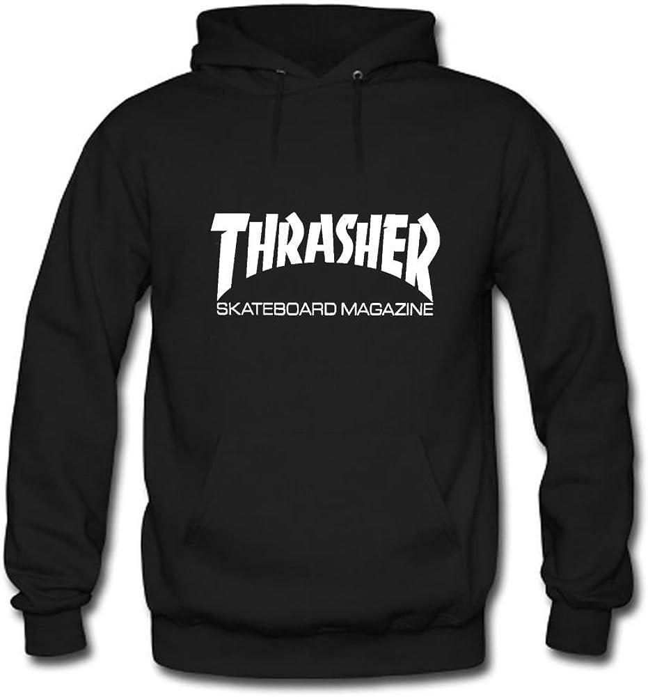 Liveby Men Thrasher Skateboard Design Crew Neck Long Sleeve Hoodies
