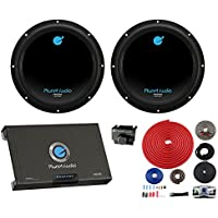 2) PLANET AUDIO AC10D 10 3000W Car Audio Subwoofers Subs+2 Channel Amp+Amp Kit