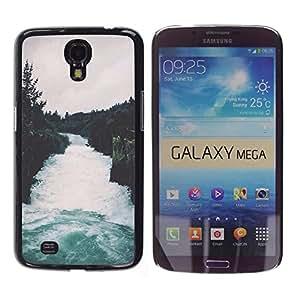 iKiki Tech / Estuche rígido - Nature Forest Grey Sky Trees - Samsung Galaxy Mega 6.3 I9200 SGH-i527