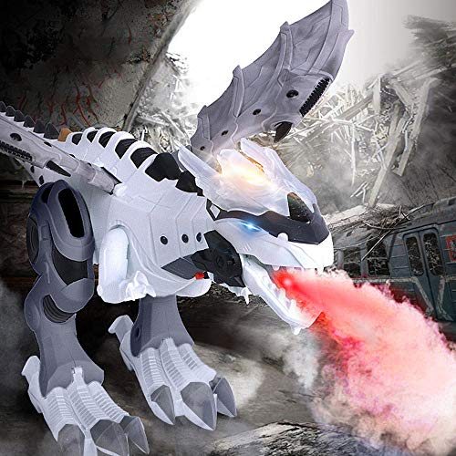 Dragon Flashing Antenna - LtrottedJ Walking Dragon Toy Fire Breathing Water Spray Dinosaur