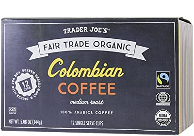 Trader Joe's Colombian Coffee Cups Fair Trade Organic 12 Cups
