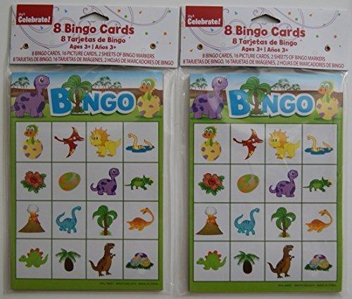 Way to Celebrate Children's Party Dinosaur Bingo Pads - Set of 2 by Retail ()