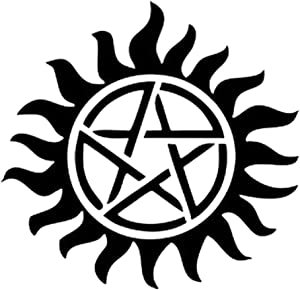 Pokewin 2pcs Supernatural Anti-Possession Pentagram Sticker Vinyl Decal