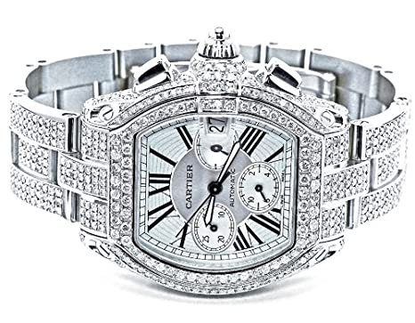 pre owned mens cartier roadster xl watch diamonds w62019x6 24 pre owned mens cartier roadster xl watch diamonds w62019x6 24 ct