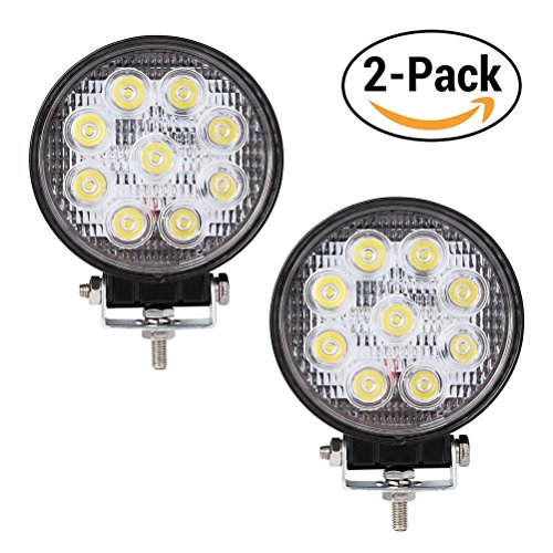 27W 4.3Inch Led Fog Light Bar 2PCS,Outdoor Led Light Bar 4050LM(2×2050)Led Light Bar Set 6500K Night Driving Lights Spot Light Bar for 4X4UTV Jeep Cabin Boat Ship ATV Deck Mining(18 monthes Warranty)