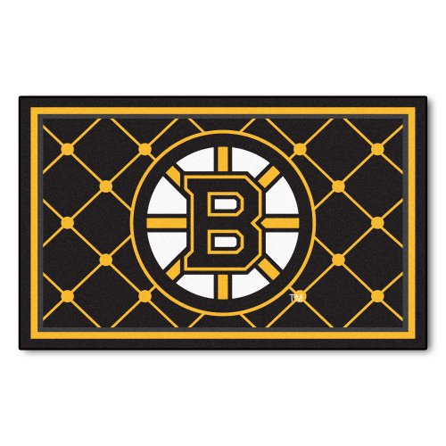 FANMATS NHL Boston Bruins Nylon Face 4X6 Plush Rug