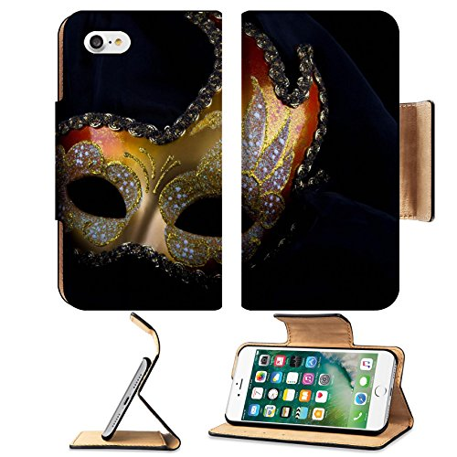 Carnival Of Venice Costumes Ideas (Liili Premium Apple iPhone 7 Aluminum Snap Case Venecian mask gold and red carnival venice IMAGE ID 13769454)